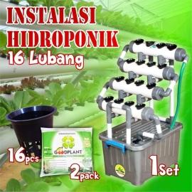 Rak Kit Hidroponik Mini Murah 16 Lubang Gratis Netpot 16 Pcs